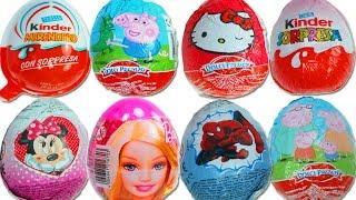 Barbie Giant Kinder Surprise eggs Play Doh Peppa Pig Frozen Disney egg Cars 2