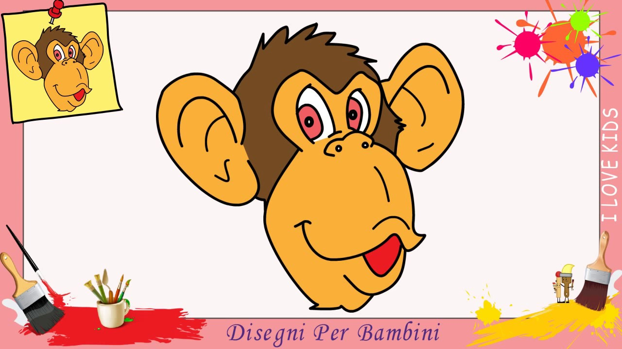 Come Disegnare Una Scimmia Facile Passo Per Passo Per Bambini 6