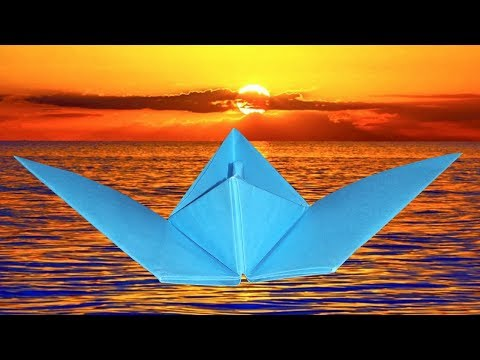 How To Make A Flying Paper Boat - DIY Paper Craft Idea Easy - Origami Boat