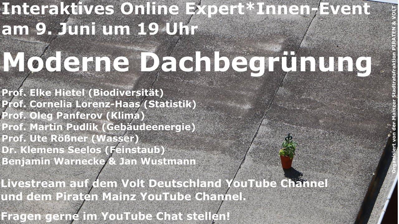 YouTube: Volt meets Experts: Dachbegrünung