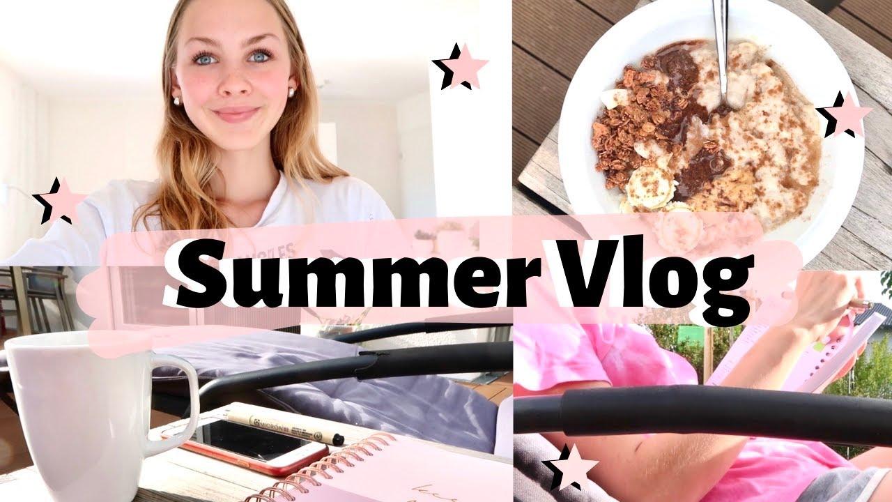 Ein produktiver, aber entspannter Sommer Ferien Vlog | Organisation, Aufräumen, Bullet Journal