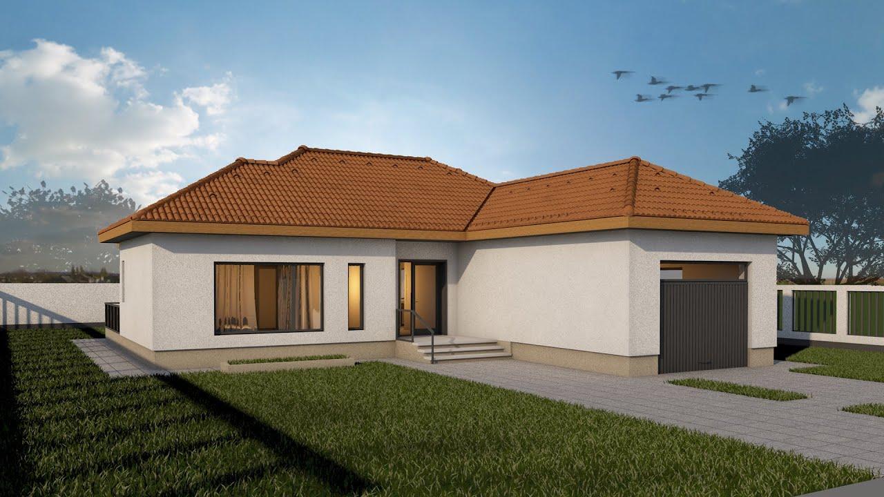 Proiect casa eva parter 3 camere 98 mp v2 youtube for Case parter 3 camere