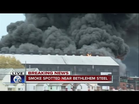 Massive fire at Republic Steel
