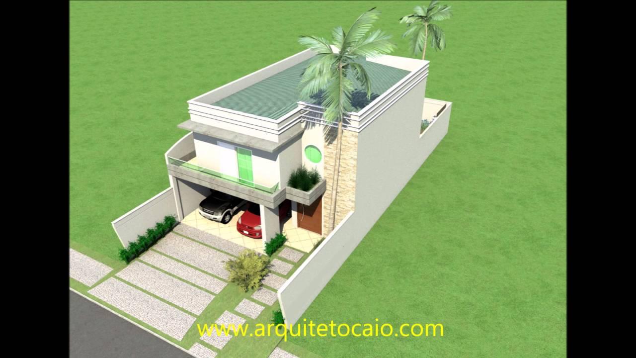 Projeto sobrado casa arquitetura moderna condominio for Casa moderna 8x20