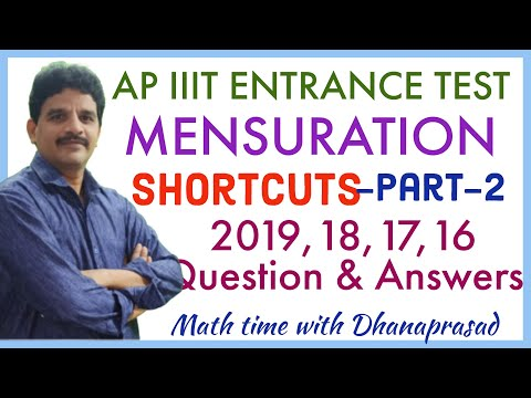 AP IIIT ENTRANCE TEST-MENSURATION Shortcuts-Part-2- 2019,18,17,16 Q U0026 A   Sphere, Hemisphere, Cone  