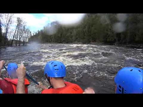 Whitewater Rafting Menominee River Wisconsin Video White Water How Tourism Guide to