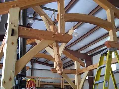 Cabin Creek Timber Frames Raises A 12 X12 Compound