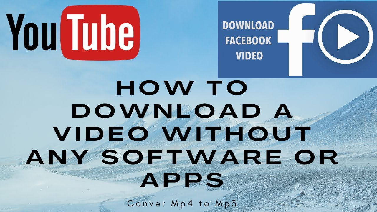 How to download a video without any software or apps?||Facebook||YouTube||Convert