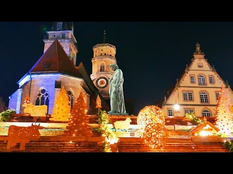 4K Germany Stuttgart city Christmas market December 2015 Германия Штутгарт Travel Holidays LX100.