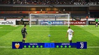 PES 2019 | VALENCIA vs JUVENTUS | Penalty Shootout | UEFA Champions League | Gameplay PC