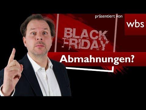 Black Friday (23.11.) – Vorsicht, Abmahnungen drohen! | Rechtsanwalt Christian Solmecke
