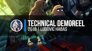CG-Animación/Ludovic Habas Técnico - demoreel - 2018