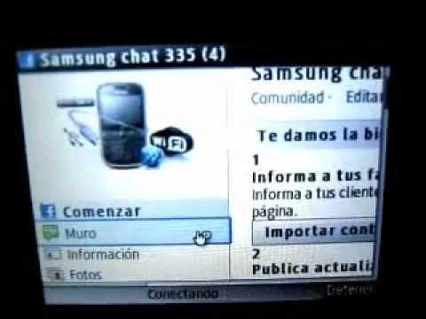 Internet Wi-Fi Google En Samsung Chat 335 / Samsung GT-S3350