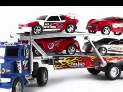 camion transporteur de voitures jouets youtube. Black Bedroom Furniture Sets. Home Design Ideas