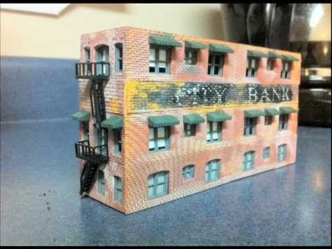 Model Railroad Building, Make An Old Building / Structure. Weathering, Great Train Layout Ideas!