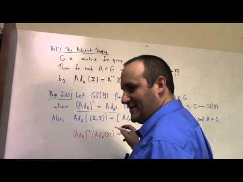 Matrix Lie Groups: March 30, adjoint and Lie Algebra (part 1)