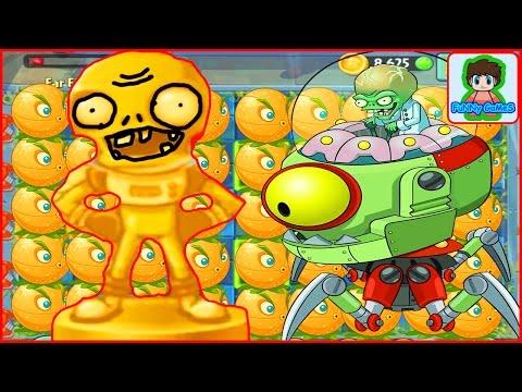 Растения против Зомби - Мини-игра 13 Удача на бобслее