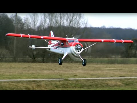 "GIANT FMS DH-2 Beaver V2 2000mm (78.7"")  PNP Reflex Gyro Combo Maiden Flight"