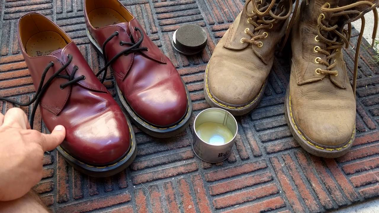 price reduced fashion styles good texture Doc martens wonder balm guide - YouTube