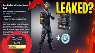 NEW FORTNITE STARTER PACK has NEW SKIN + VBUCKS LEAKED! - Fortnite: Battle Royale | TBNRKENWORTH