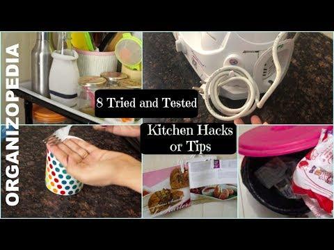 8 Useful kitchen Tips and Tricks in hindi (with English subtitles) | Organizopedia