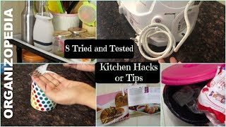 8 Useful kitchen Tips and Tricks in hindi (with English subtitles) | Organizopedia