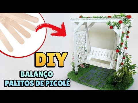 DIY: How to Make a Miniature Pergola Swing - With Popsicle Sticks
