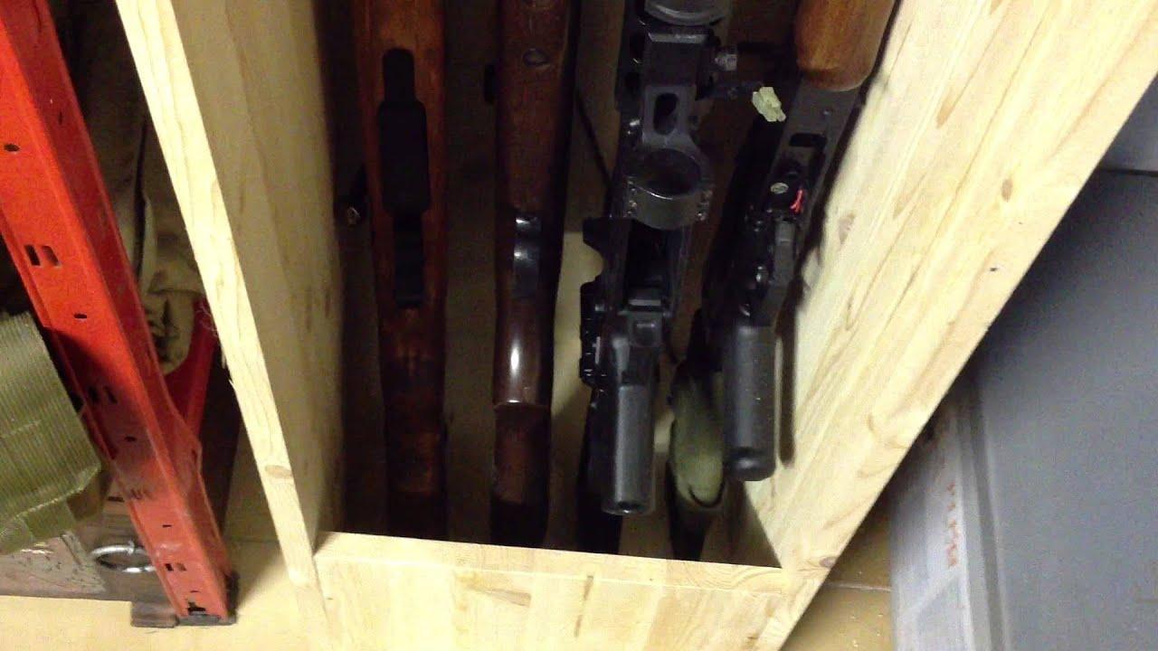 Rastrelliera fucili artigianale youtube - Costruire un mobiletto ...