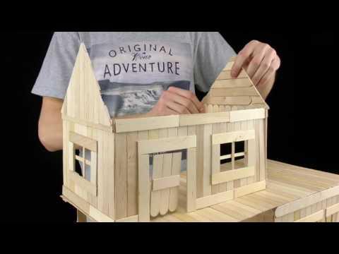 สร้างบ้านหนูน้อยด้วยไม้ไอติม