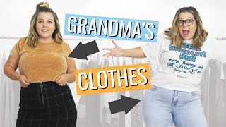 I Tried to Style My Grandma's Clothes Into Trendy Outfits