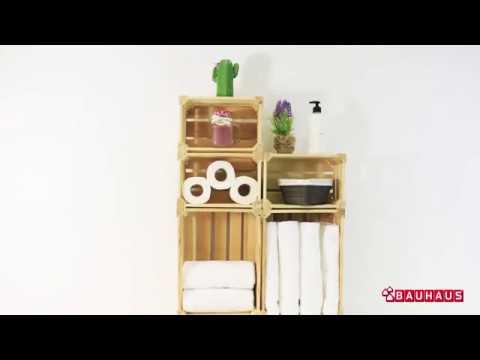 Como Crear Un Mueble De Bano Con Cajas De Madera Diy Bauhaus Youtube