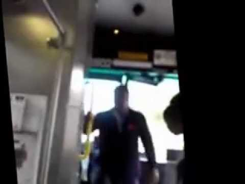Cleveland Ohio Busdriver Artist Hughes Uppercuts Shidea Lane For Mouthing Off At Him On The Bus!