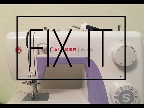 fabric stuck in sewing machine