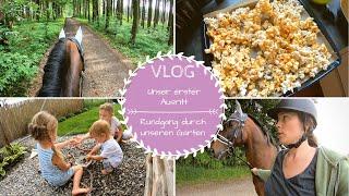 Gartenrundgang |Erster Ausritt im Wald |Karamellisiertes Popcorn |VLOG |Kathis Daily Life