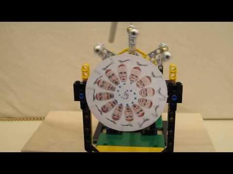 Lego Phenakistoscope Run by Electrostatic Motor