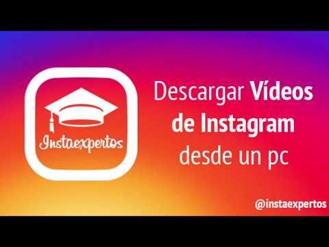 Descargar vídeos de Instagram desde PC