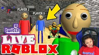 🍩 Roblox New Baldi Multi Player Private Server with Fans MinetheJ Live on Twitch
