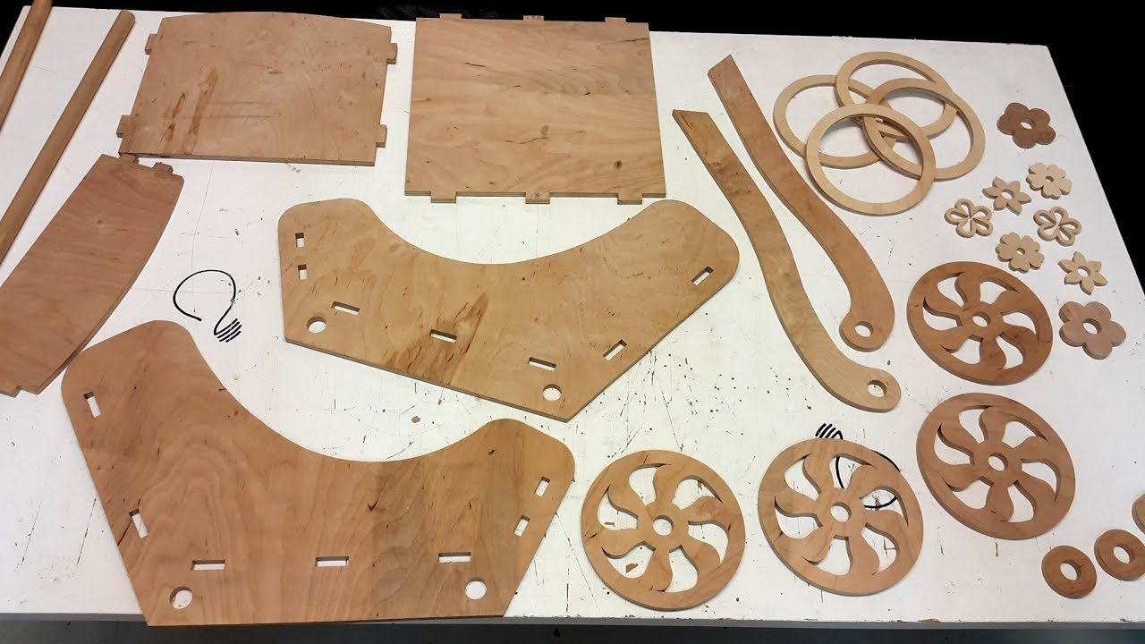making a wooden doll pram on the scroll saw (part 1 of 2)