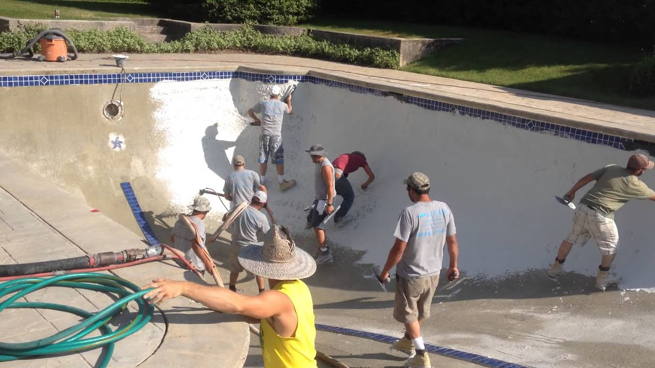 Pool Plaster Installation On A Gunite Pool In Cape Cod By Affordable Pools Youtube