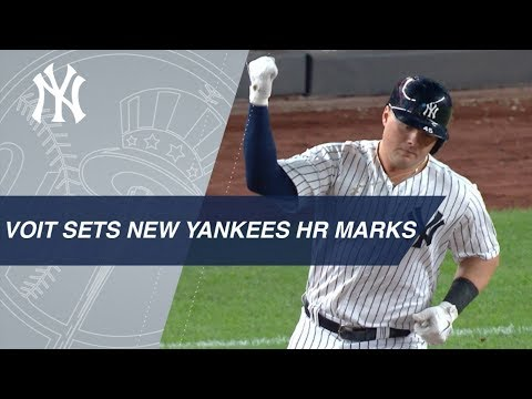 Voit hits HR to set Yankees, MLB mark