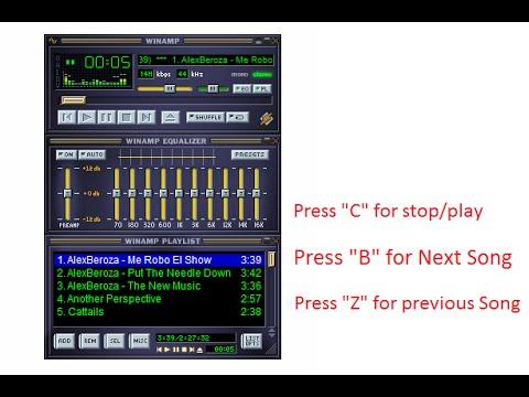 bca36a7bd8 Winamp Shortcut Keys for Next Previous Stop Play - YouTube