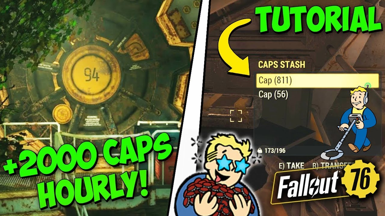 Fallout 76 - 2000+ CAPS per HOUR in Vault 94 Raid: Dead In The Water  (UNLIMITED CAPS!)