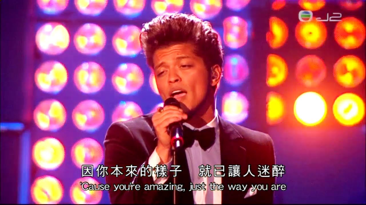 Bruno Mars - Just The Way You Are ( Live at the BRIT ...