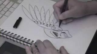 Winged Skull Tattoo Style