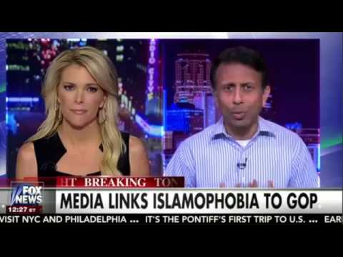 """Bobby Jindal weighs in on Ben Carson's saying """"a Muslim shouldn't be in the WH"""" on the Kelly File"""
