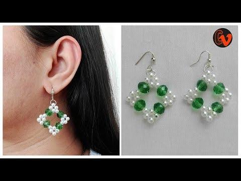 How to Make Beaded Earrings / DIY / Beginners