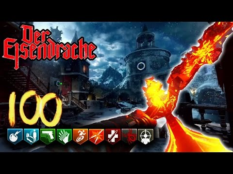 'Der Eisendrache' Round 100 Speed Run! FULL ROUNDS 1-100 GAMEPLAY! - Black Ops 3 Zombies
