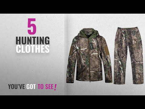Top 10 Hunting Clothes [2018]: Camo Jacket New View Waterproof Hunting Camouflage Hoodie Military