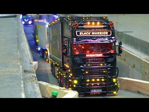 RC BLACK WARRIOR TRUCK! RC SHOW TRUCKS! SCANIA! RC TRACTOR STUCKING! MODELLBAU ERFURT!