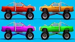 Carrera de coches de dibujos animados de la película completa de 20 min. Coche de dibujos animados de la película completa. Coches kid Gran Camión de dibujos animados de Camiones de niños